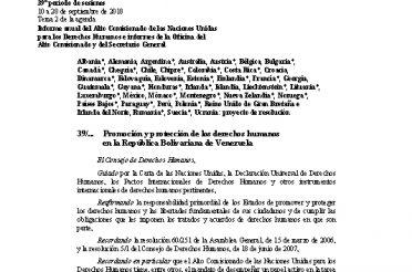 A-HRC-39-L.1-Rev.1. Promoción y protección de los derechos humanos en la República Bolivariana de Venezuela
