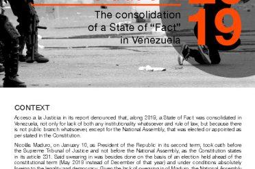 Bulletin of the annual report of Acceso a la Justicia 2019