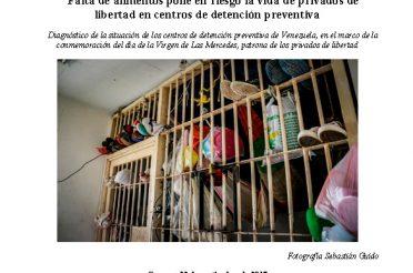 Falta de alimentos pone en riesgo la vida de privados de libertad en centros de detención preventiva 2017