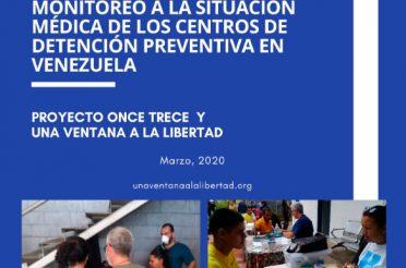 Jornadas de salud y monitoreo a la situación médica de los centros de detención preventiva en Venezuela. Año 2020