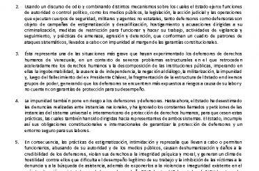 Movimiento de defensores de DDHH denunciaron ante CIDH política de agresión del Estado venezolano