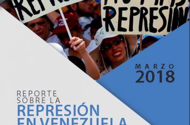 Reporte sobre la represión en Venezuela Marzo de 2018