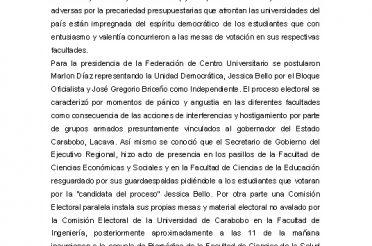 Vulneración de la autónoma universitaria y ejercicio de la democracia en la Universidad de Carabobo