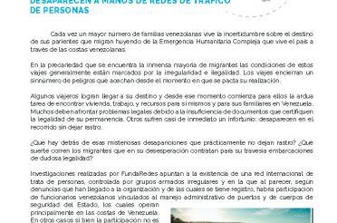 Boletín 18 de FundaRedes. Venezolanos que emigran por mar desaparecen a manos de redes de tráfico de personas. 13 de marzo de 2020