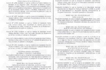 Gaceta Resolucion restructuracion PNB integrantes