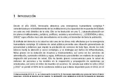 Informe sobre Derechos Humanos de las mujeres venezolanas con VIH-SIDA en el contexto de la crisis del sector salud