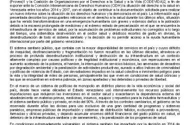 Venezuela en un contexto humanitario de privación prolongado de medicina y servicios sanitarios