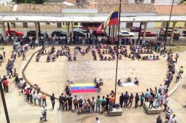 Actividades de protesta realizadas en Barquisimeto durante la rebelión popular de abril del 2017